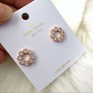 ♠️ Kate Spade Full Circle Rose Gold Studs
